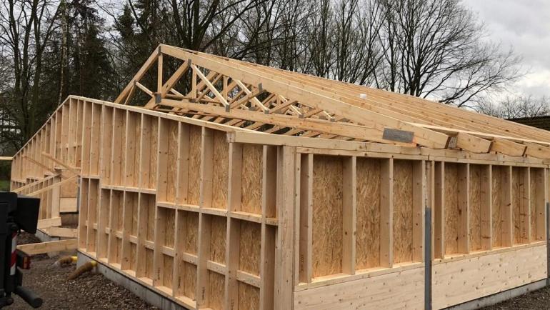 Fortschritt beim Caddyhaus-Bau